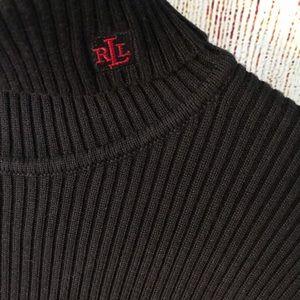 Ralph Lauren Ribbed Navy Blue turtleneck sweater